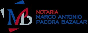 Notaría Marco Antonio Pacora Bazalar